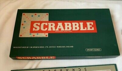 Spears Original Vintage Scrabble Board Game From 1954  • 14£