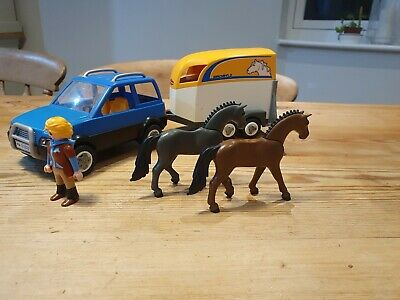 Playmobil Horse Box And Trailer Good Condition • 2.25£