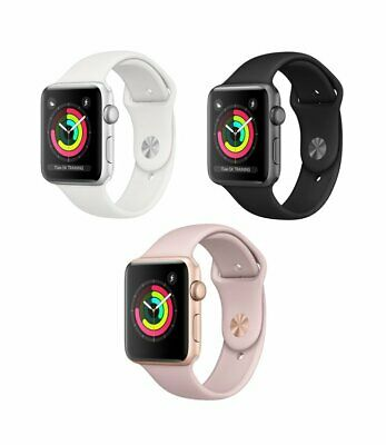 $ CDN251.06 • Buy Apple Watch Series 3 42mm 38mm | GPS & Or LTE | Aluminum Case Silicone Band!