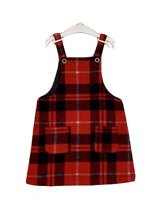 Girls Next Red Checked Wool Dress- Aged 4-5 Years • 2.99£