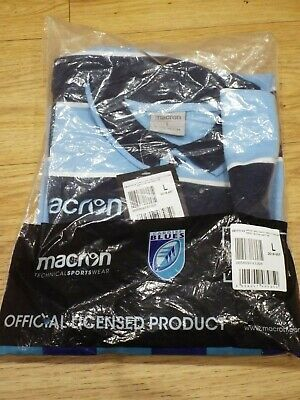 BNWT Cardiff Blues Macron Rugby Union Shirt Large From 2018 • 9.99£