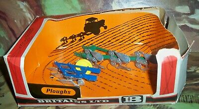£8.75 • Buy Britains Boxed 9546 Ploughs In The Old Style Britains Box