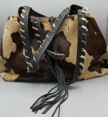 Hobbs Large Boho Genuine Leather Cow Hide Tote Handbag Bag. • 12.99£