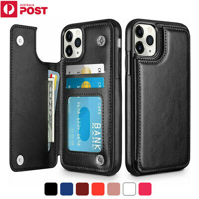 AU13.99 • Buy For IPhone 12 11 Pro Max Mini XR X/XS 8 Plus Case Leather Wallet Card Flip Cover