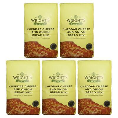 £9.99 • Buy Wright's Baking Cheddar Cheese & Onion Bread Mix 500g (Pack Of 5)