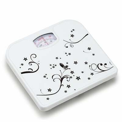 £9.99 • Buy White Butterfly Design Mechanical Bathroom Scales Body Weight Weighing Scale