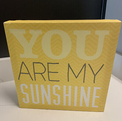 You Are My Sunshine Canvas Picture Frame Yellow Gift 10x10 Thank You Love • 7.53£
