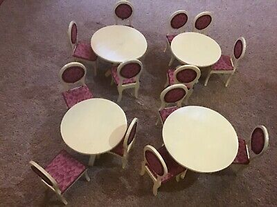 Dolls House Miniature Table Chairs Dining Room Kitchen Furniture 1/12 Scale • 6£