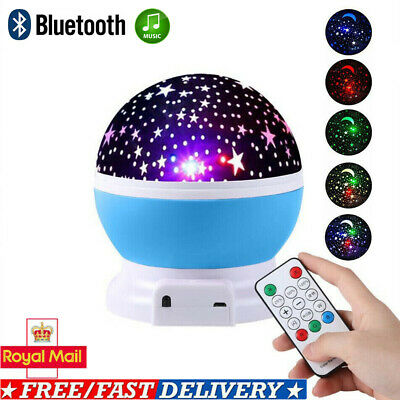 Rotating LED Starry Projector Night Light Star Sky Projector Lamp Kids Xmas Gift • 15.39£