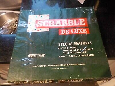 Vintage 1970s Spears Games Scrabble De Luxe, Built In Turntable, See Description • 5.99£