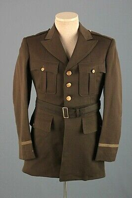 Men's 1940s WWII US Army Officers Tunic Sz Small 40s WWII Wool Vtg Jacket USAF • 51.19£