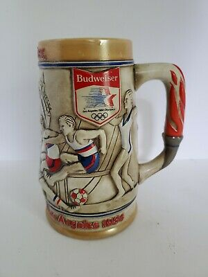 $ CDN26.07 • Buy 1980 Olympic Committee Budweiser Beer Stein - 1984 Los Angeles Olympics Vintage