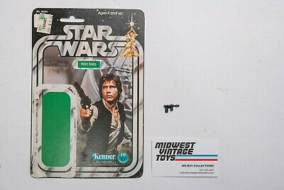 $ CDN1.31 • Buy Vintage Star Wars - Han Solo 12 Back Card And Weapon - Kenner