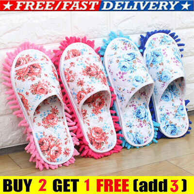 Microfiber Dust Mop Slippers Lazy Quick House Floor Home Cleaning Mop Shoes NEW • 5.99£