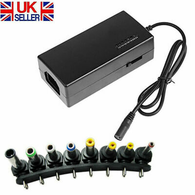 96W Regulated 12-24V DC Power Supply Adapter Charger For Multi Laptop + 8 Tip UK • 9.15£