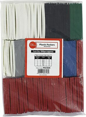 200 X Timco Flat Plastic Packers Window Assorted Glazing Packer Spacers Shims • 11.99£