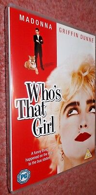 WHO'S THAT GIRL (1987) Cult Comedy, UK Reg 2 DVD, Madonna, Griffin Dunne • 9.25£
