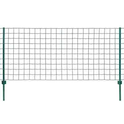 VidaXL Euro Fence Set 20x1.5m Steel Green Outdoor Garden Patio Wire Mesh Panel • 133.99£