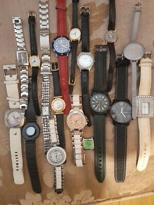 Joblot Watches Spares Or Repair/fossil/anaii/sekonda/ • 22£