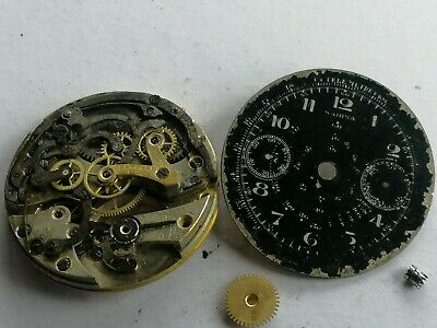$ CDN422.27 • Buy Vintage Eberhard Chronograph Movement. With Sabina Dial. Only For Parts/restore
