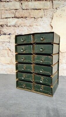 Vintage Mini Metal Industrial Drawers  • 40£