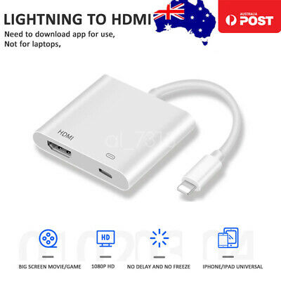 AU16.14 • Buy Digital AV Adapter To HDMI Cable For Apple IPhone 7 8 X 11 IPad ALL APPLE IOS13