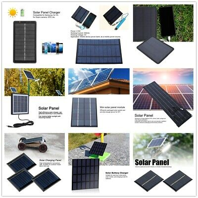 $8.09 • Buy Multifunctional Mini Solar Panel Charger DIYTools For Power Bank Solar Lights