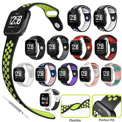 $ CDN5.69 • Buy Sport Watch Band Large Silicone Strap Wristband For Women Men Fitbit Versa