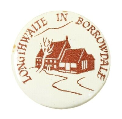 Vintage Old Longthwaite In Borrowdale YHA Youth Hostel Metal Button Badge • 6£