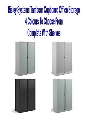 Bisley Systems Tambour Cupboard Office Storage All Sizes & Colours  • 289£