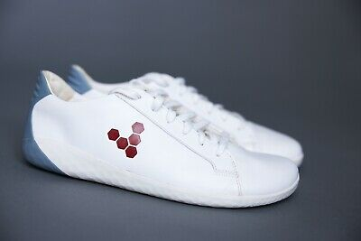 Vivobarefoot Geo Court Leather Barefoot Trainers, Blue White Red - UK 8/EU 42 • 85£