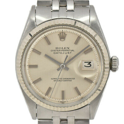 $ CDN4458.66 • Buy ROLEX Vintage DATEJUST 1601 Silver Dial Cal.1570 Automatic Men's Watch J#97505