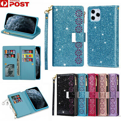 AU18.99 • Buy For IPhone 12 Mini 11 Pro Max XR X/XS 8/7 Plus Case Leather Wallet Glitter Cover