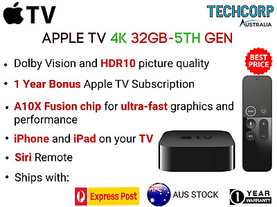 AU225 • Buy Brand New Apple 4K TV 32GB 4th Generation Full High Definition Media Streamer