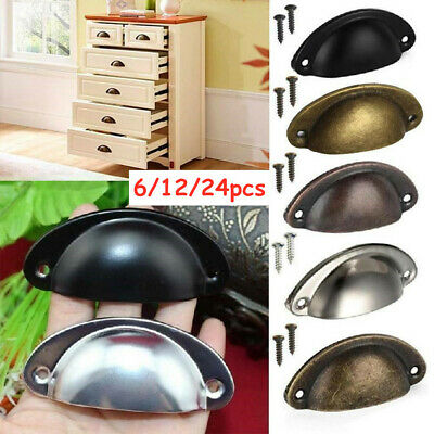 AU9.99 • Buy 6-24X Cupboard Door Cabinet Cup Drawer Furniture Retro Antique Pull Shell Handle