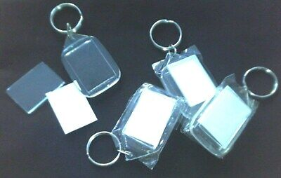 £0.99 • Buy Clear Acrylic Plastic Blank Photo Keyrings -  Make Your Own &  Personalise