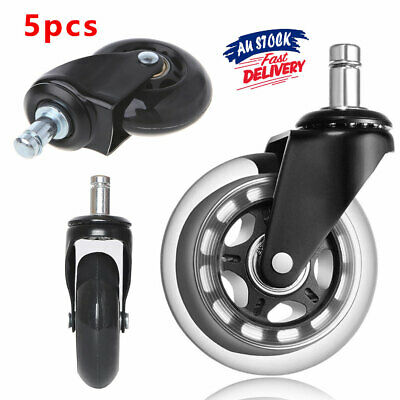 AU25.50 • Buy 5pcs Caster Wheels Replacement Grip Chair Rollerblade Rolling Ring Office ACB#