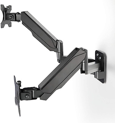 £58.78 • Buy HUANUO Dual Monitor Wall Mount Gas Spring Wall-Mounted Stand For 17 To 27 Inch