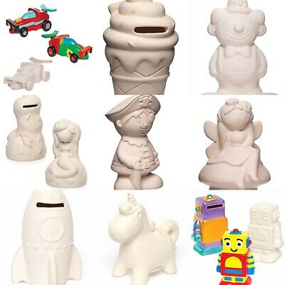 £8 • Buy Paint Your Own-coin Bank Money Box Pocket Money Savings Kids Craft Gift Xmas