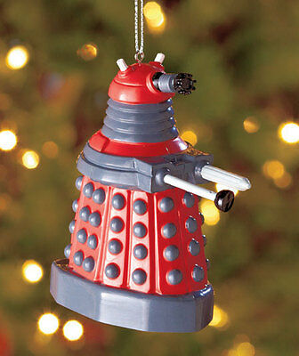 BBC Doctor Who Ornament, Red Dalek Ornament, Dalek Blow Mold Ornament • 5.95£