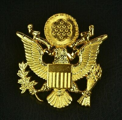 £7.42 • Buy Wwii Us Army Officer Cap Eagle Badge Insignia Cap Badge