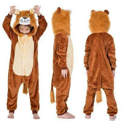 AU6.64 • Buy Lion Kids Adult Flannel Pajamas Onesie2888 Cosplay Costume Parent-child Clothing