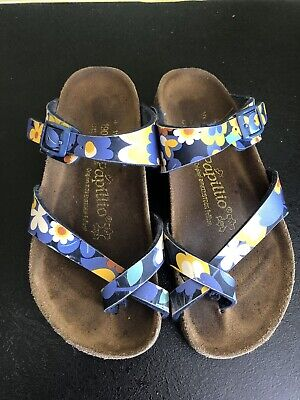 Papillio Birkenstocks Junior Size 11.5 190 Retro Flower Pattern Girls Sandals • 6.50£