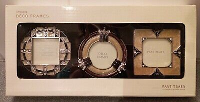 A Trio Of Past Times Art Deco Style Miniature Enamelled Hanging Photo Frames NEW • 30£