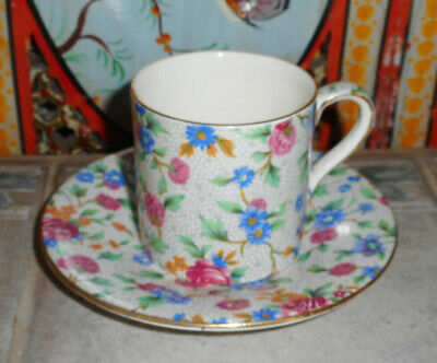 $ CDN13.75 • Buy Royal Winton Old Cottage Chintz Barrel Demitasse Cup & Saucer