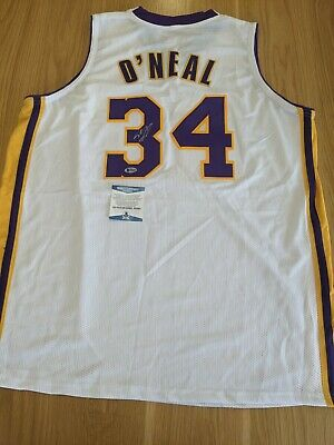 AU720 • Buy SHAQUILLE O'NEAL - Los Angeles Lakers Signed Jersey With COA