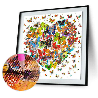 AU12.99 • Buy Butterfly Heart 5D Diamond Painting Full Drill Embroidery DIY Cross Stitch Craft