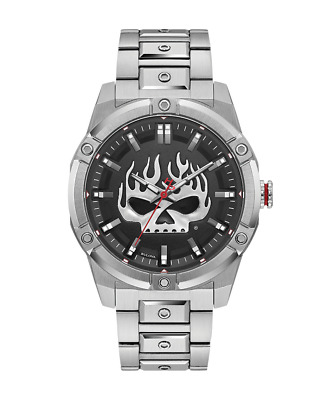 Harley-Davidson Bulova Flaming Skull Watch • 299.99£