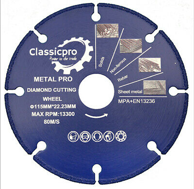£13.50 • Buy CLASSICPRO 115mm 4.5  ULTRA FAST METAL CUTTING  BLADE DISCS FOR ANGLE GRINDER..
