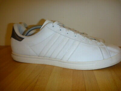 Adidas Court Star Size Uk 10.5 White Leather Trainers Mens • 24.99£
